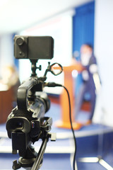 Camcorder at a conference