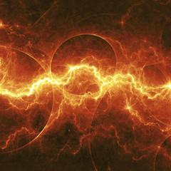 Orange fantasy lightning,electrical background