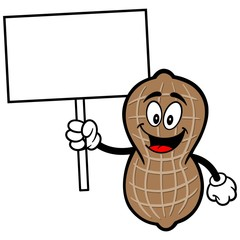 Peanut with Sign