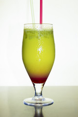 Fresh Red Green Cocktail Drink