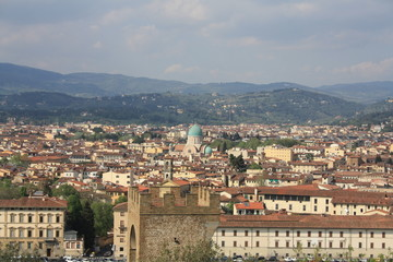 Landscape of Florence with the Great Synagogue,Italy.2015