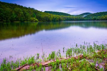 Long exposure of Long Pine Run Reservoir in Michaux State Forest