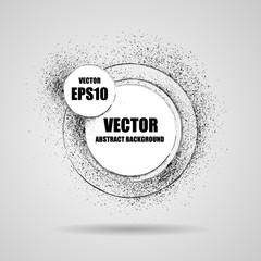 Abstract vector grunge banner black round