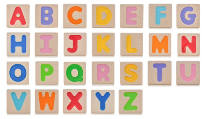 Wooden toy alphabet A to Z
