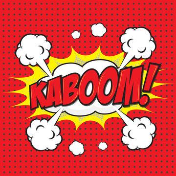 KABOOM! wording in comic speech bubble