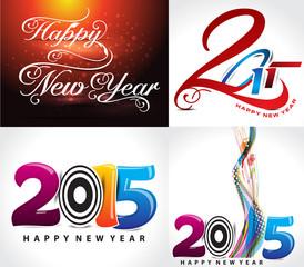 happy new year background set