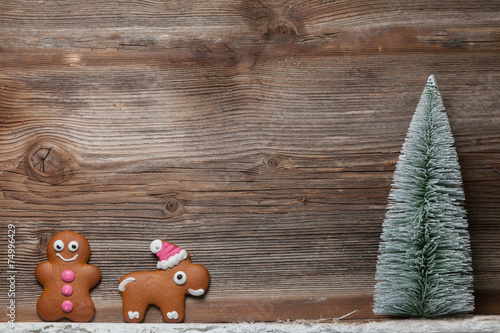 Gingerbread Man And Reindeer Stock Photo And Royalty Free Images On