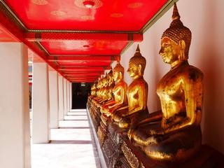Buddha image in a row at Wat Pho