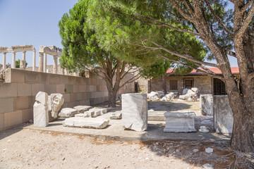 Acropolis of Pergamum. Fragments of marble decor