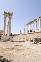 Pergamum. Ruins of the Trajaneum, 117 - 118 AD