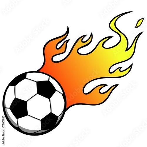 Soccer Balls Flame Stock Vector 54514582  Shutterstock