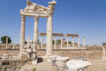 Pergamum. Ruins of the Temple of Trajan, 118 AD