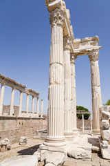 Pergamum. Ruins of the Temple of Trajan, 117 AD