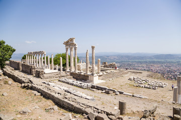 Acropolis of Pergamum. Remains of Temple of Trajan, 117-118 AD