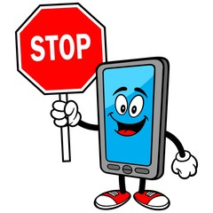 Smartphone with Stop Sign