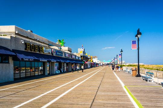 The boardwalk in Ocean City, New Jersey.