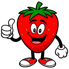 Strawberry with Thumbs Up
