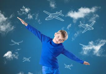 Fly like airplane