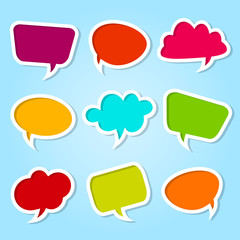 Set of speech colorful bubbles
