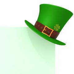 St. Patrick's day green hat of a leprechaun panel