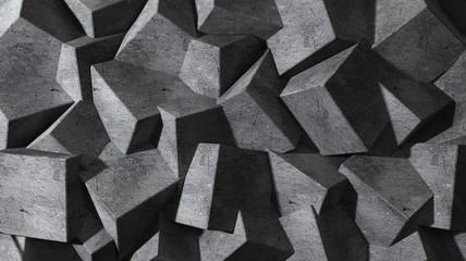 Betonowe bryły 3D