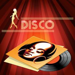 Disco club poster design