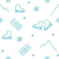 vector seamless pattern winter