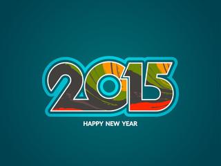 happy new year 2015 text design.