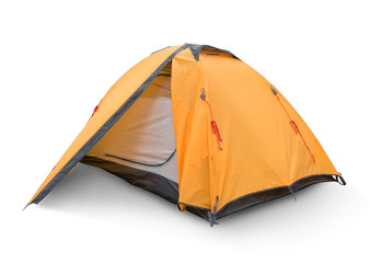 Photo sur Plexiglas Camping Yellow tourist tent