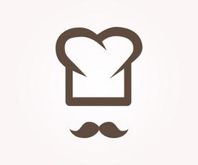 Vector logo design element. Chef, restaurant, cook