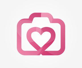 Vector logo design element. Camera, like