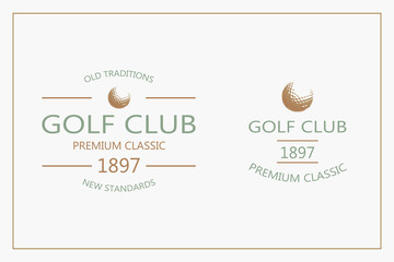 Golf labels and badges made in vector. Golf logotypes. Set 3