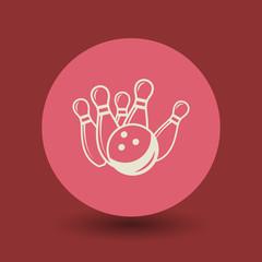 Bowling symbol, vector