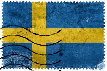 Sweden Flag - old postage stamp