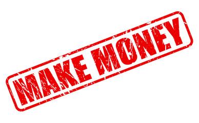 Make money red stamp text