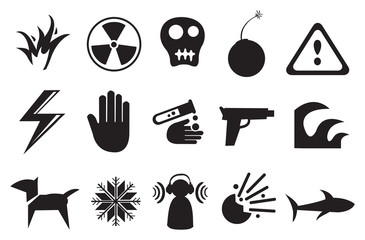 Icons and Symbols for Danger
