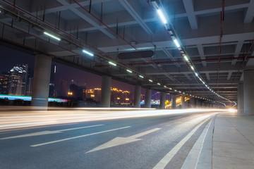 Keuken foto achterwand Tunnel light trails in the guangzhou tower