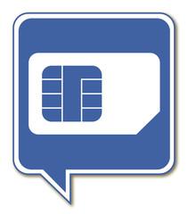 Logo puce téléphonique.