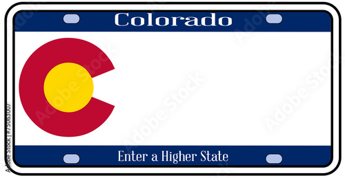 colorado state license plate stock image and royalty free vector