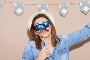 Woman in a Photo Booth party