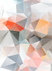 light grunge origami triangle abstract geometric stained-glass w