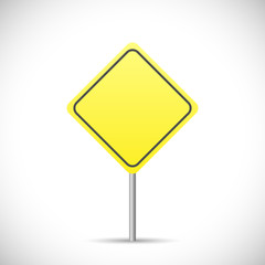 Blank Yellow Sign Illustration