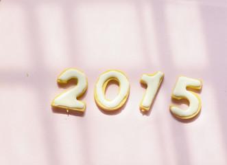 Cookies in shape of 2015