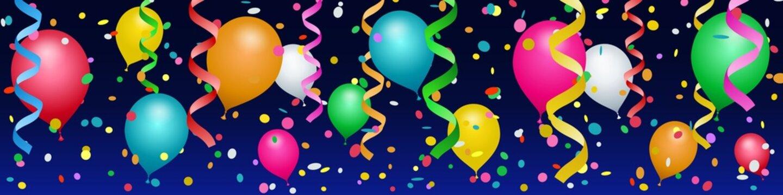 Bannière ballons, confettis et serpentins #2