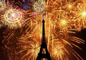 Fogos de Artifício Torre Eiffel