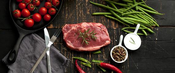 Deurstickers Vlees steak fleisch american beef
