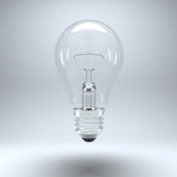Light bulb isolated on grey background
