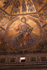 Christ Day of Judgement Mosaic - Florence  Baptistery