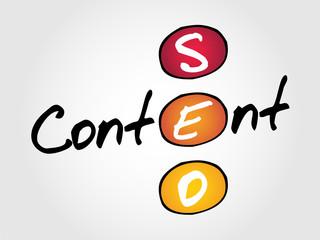 Content seo business vector concept acronym