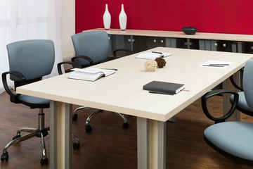 desk in office